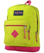 JanSport City Scout Laptop Backpack Lime Punch/Cyber Pink - $33.17