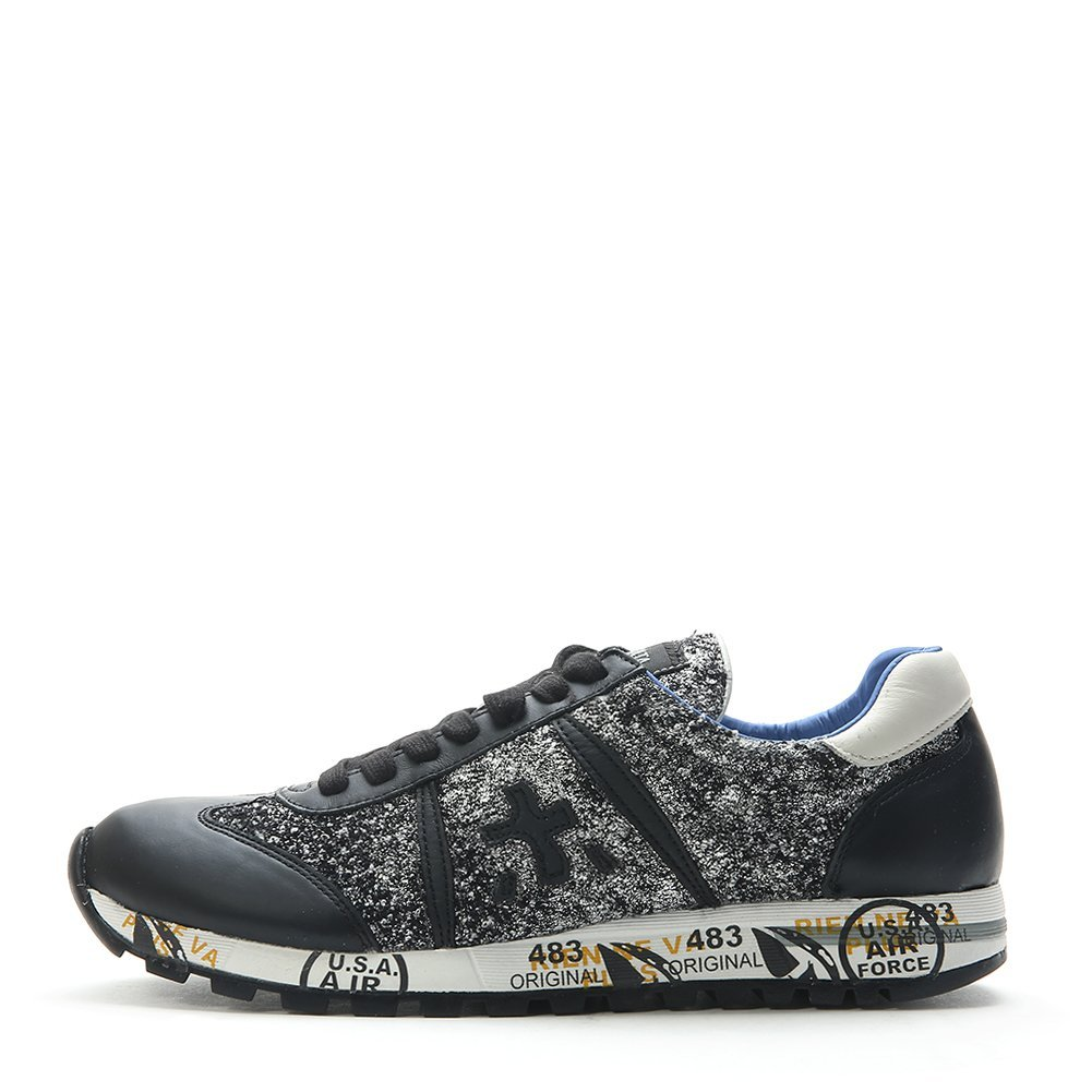Premiata Men's Lucy Fashion Running Shoes WCY-D-1050 Glitter Black SZ 37