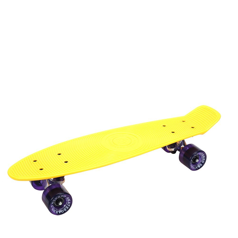 Stereo Cruiser Plastic Complete Skateboard CST106 Yellow Purple