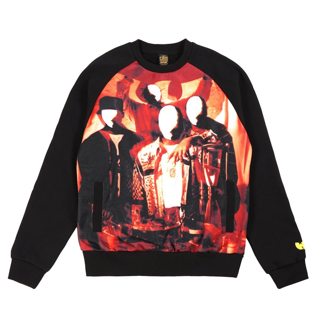 Wu-Tang Men's Disciples Crewneck Shirt 45WU0103 Black SZ L