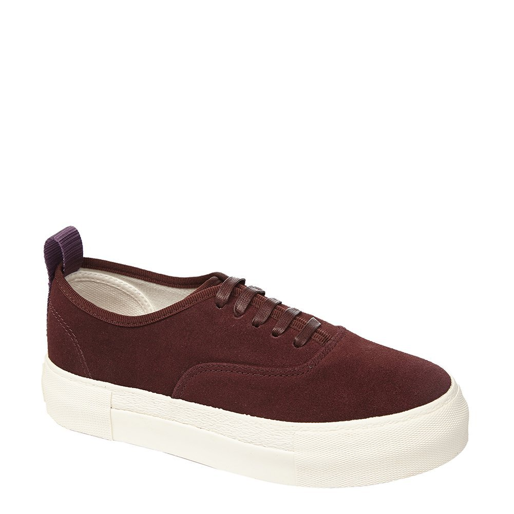 Eytys Unisex Fashion Sneakers MOTHERSUEDE Oxblood Size EU 40