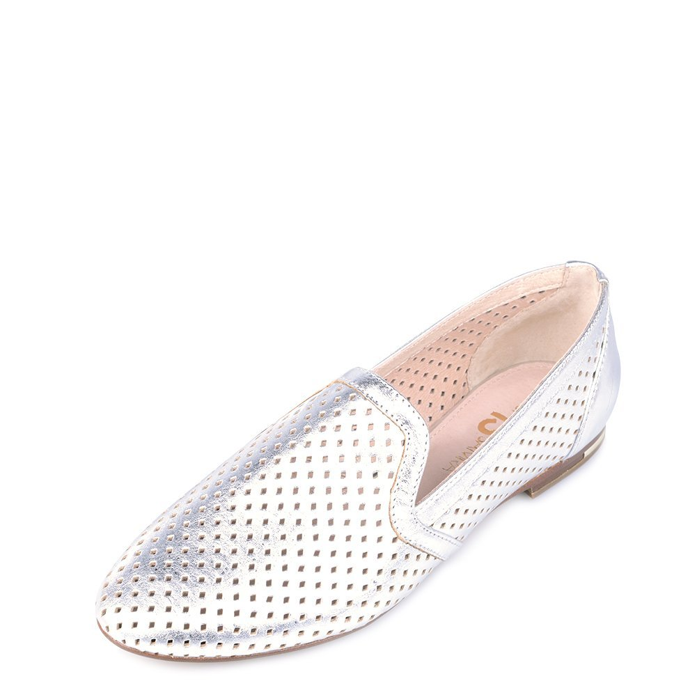 Yosi Samara Women's E-Run Flat Shoes WPR-282-715 Silver SZ 9