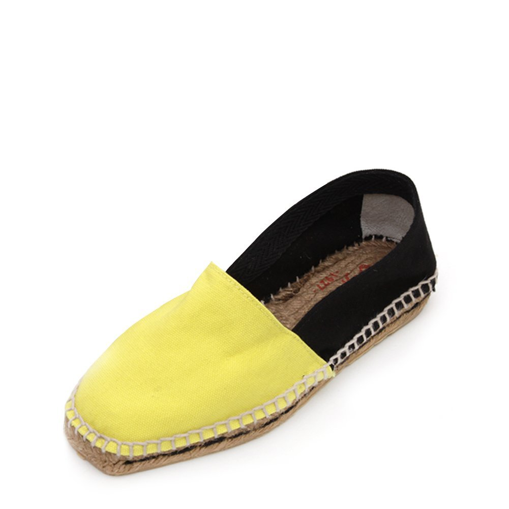 Castaner Women's Canvas Onda Slip-On Espadrille ONDA/canvas 600 Lemon/Black S...