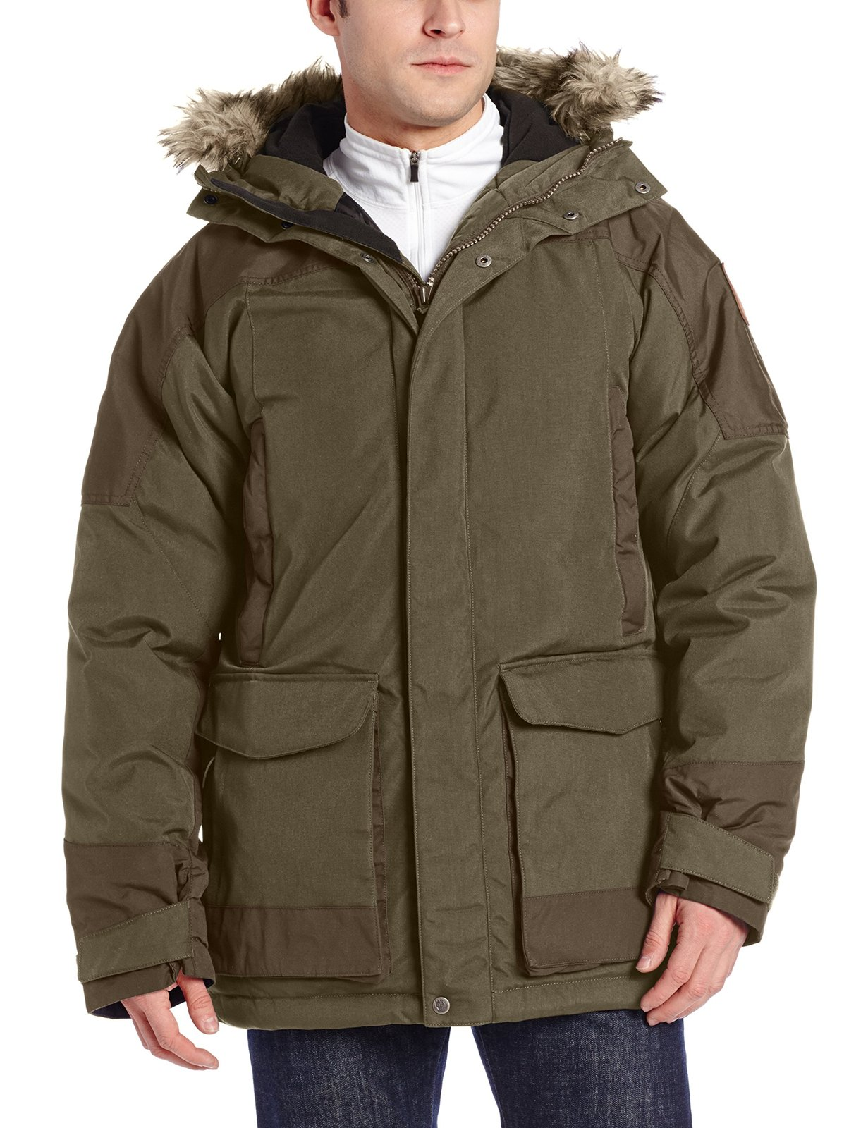 Fjallraven Men's Kyl Parka, Medium, Dark Olive
