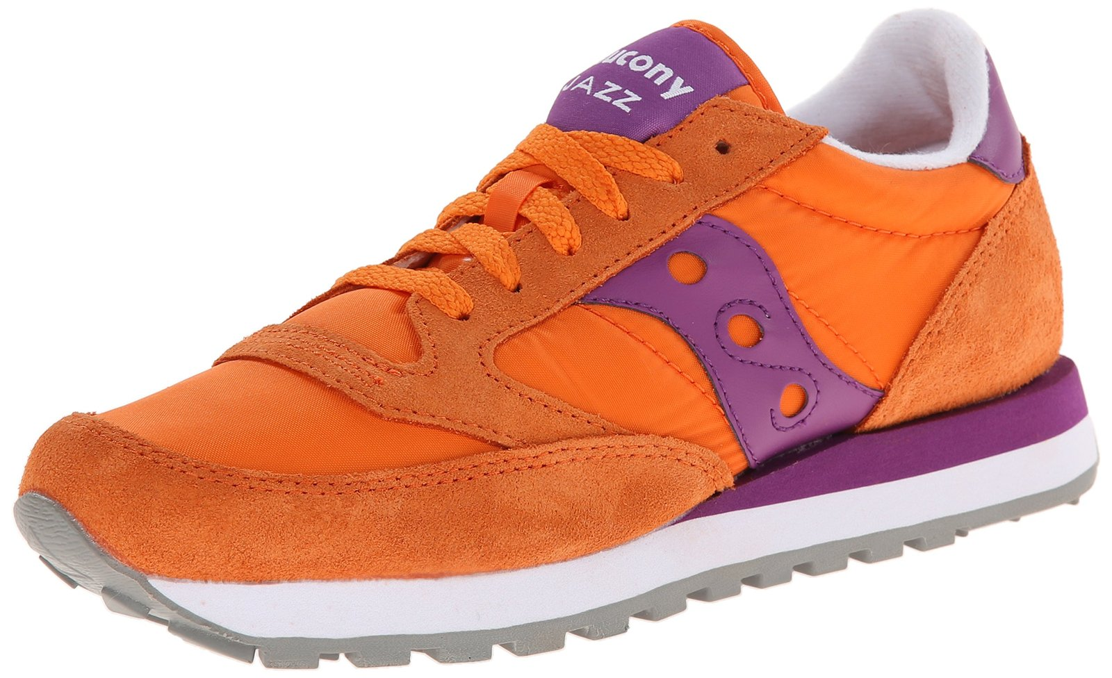 Saucony Originals Women's Jazz Original Fashion Sneaker,Orange/Purple, 5 M US