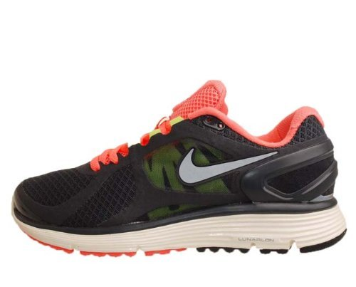Nike Wmns Lunareclipse 2 Black Mango Silver 2012 Womens Running Shoes 487974-...