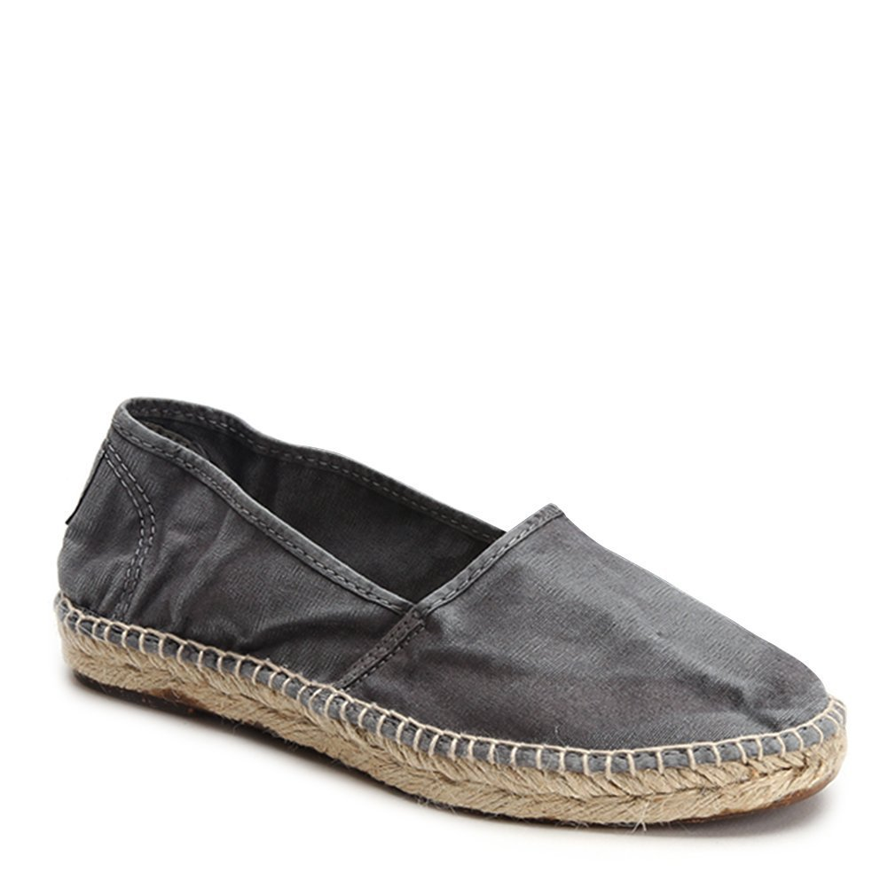 Natural World Women's Canvas Espadrille Sneakers 625E-W Gris SZ 37