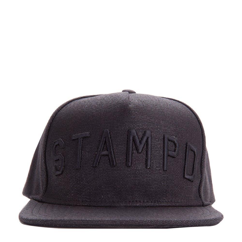 Stampd Waxed Stampd Hat Black One size SLA-U645HT