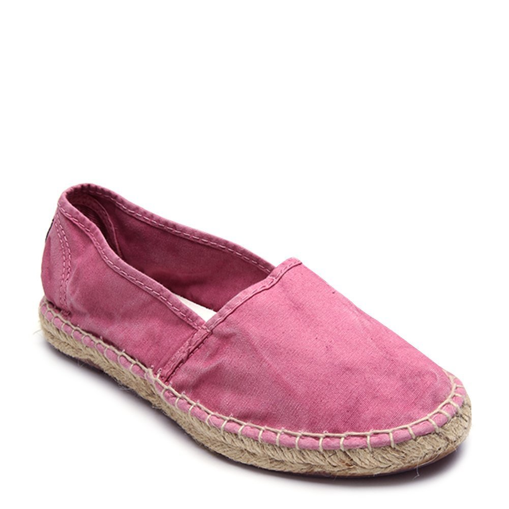 Natural World Women's Canvas Espadrille Sneakers 625E-W Rosa SZ 37
