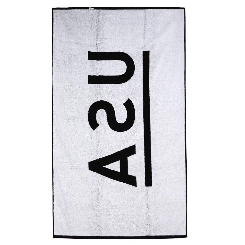 Beach Blanket Logo: STAMPD USA Logo Beach Towel SLA-101 Black One Size- Bath