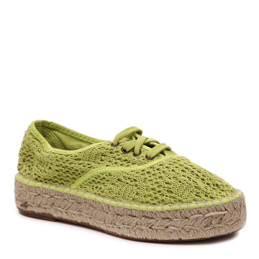Natural World Women's Lace Up Espadrille Sneakers 686-W Lima SZ 35