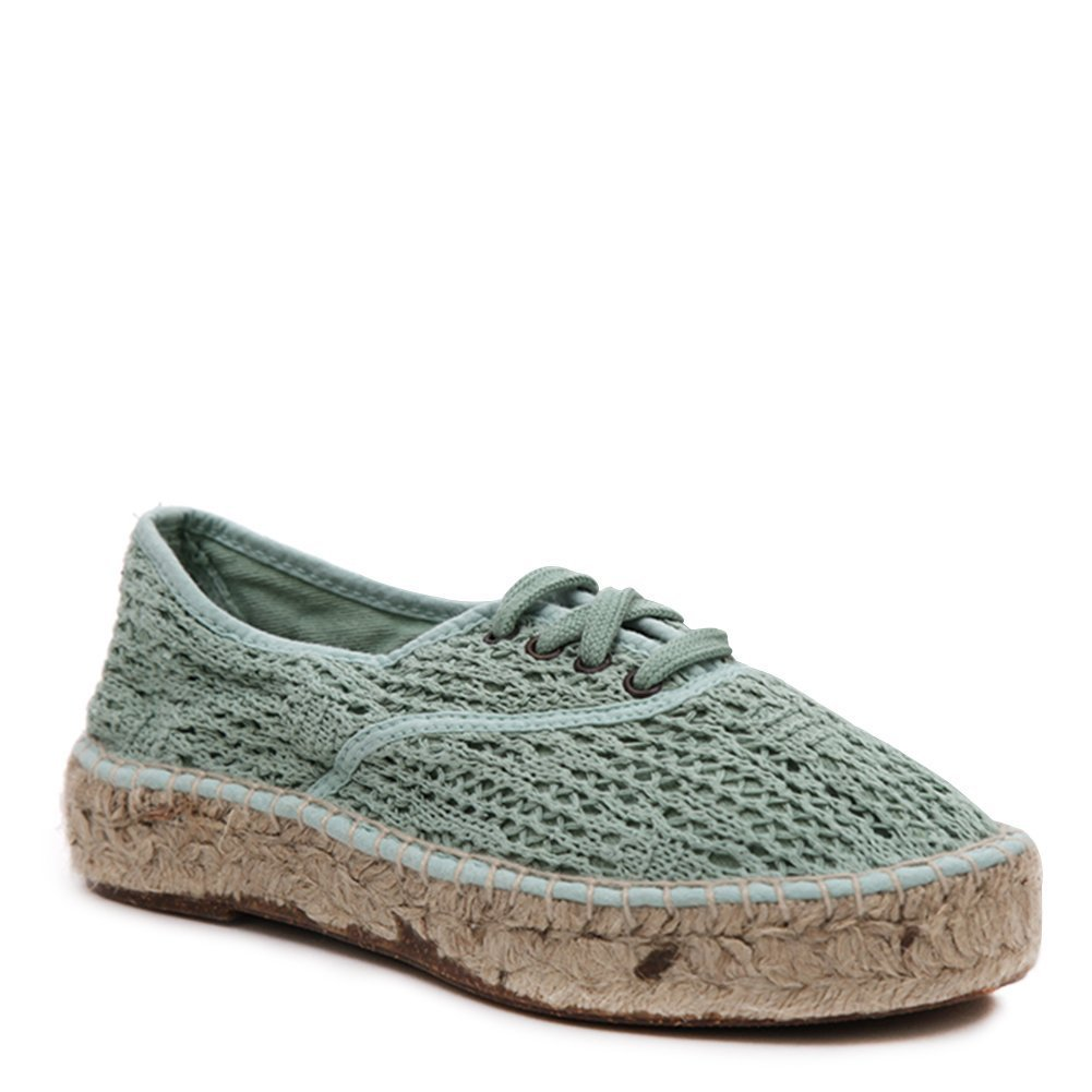 Natural World Women's Lace Up Espadrille Sneakers 686-W Opalo SZ 37