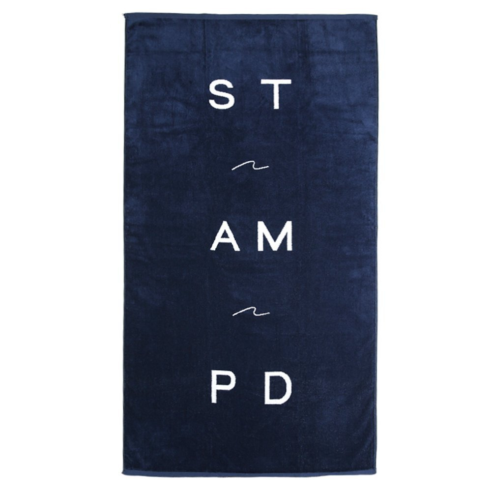 STAMPD Wave Logo Towel SLA-U647TO Navy One Size