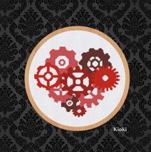 Cross Stitch Pattern Gear Heart  - $5.00