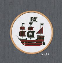 Cross stitch pattern Pirate Boat  - $5.00