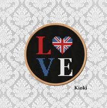 Cross stitch pattern British love  - $4.00