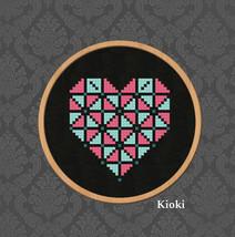 Cross Stitch Pattern Small geometric Heart  - $3.50