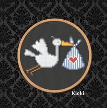 Cross Stitch Pattern Stork  - $4.50