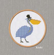 Cross Stitch Pattern Pelican  - $4.50