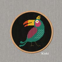 Cross Stitch Pattern Birdy Parrot  - $4.50