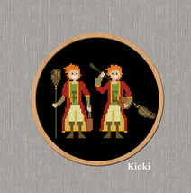 Cross Stitch Pattern Fred and George Weasley  - $5.00