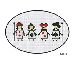 Cross Stitch Pattern Playing Cards Alice  - $3.99