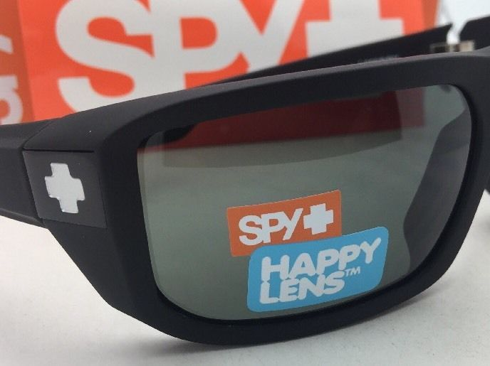 d55e639ecc New SPY OPTIC Sunglasses McCOY Soft Matte Black Frame w  Happy Grey-Green  Lenses