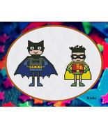 Cross Stitch Pattern Batman and Robin  - $5.00