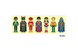 Cross Stitch Pattern Justice League  - $5.00