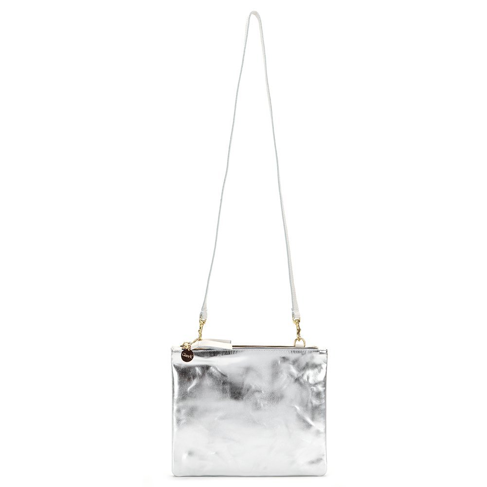 Clare Vivier Women's Double Sac Bretelle Bag CB10019 Silver/White One Size
