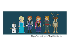 Cross stitch pattern Frozen Characters Line Up - $5.50
