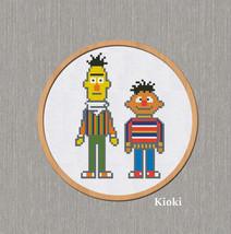 Cross Stitch Pattern Ernie and Bert  - $5.00