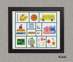 Cross Stitch Pattern Back to school  - $5.00