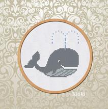 Cross Stitch Pattern Whale  - $3.70