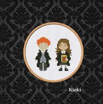 Cross Stitch Pattern Ron and Hermione  - $4.00