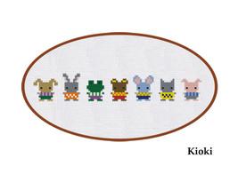 Cross Stitch Pattern Cute Little Friends  - $4.00
