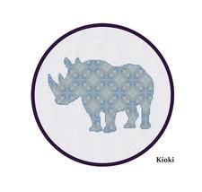 Cross Stitch Pattern Rhino  - $4.50