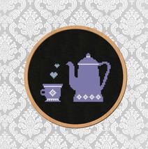 Cross Stitch Pattern Coffee pot - $4.00