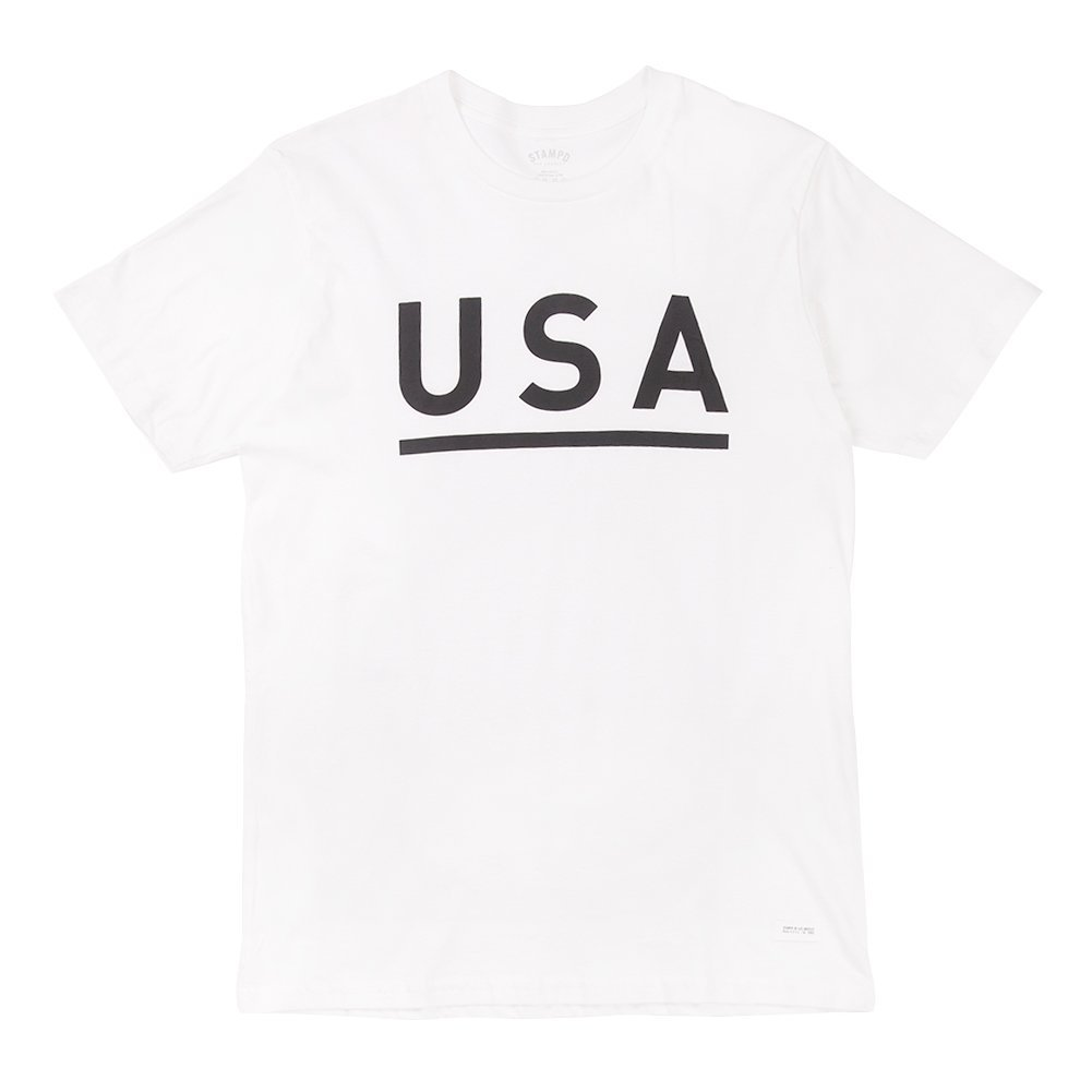 STAMPD Men's USA Logo T-Shirt SLA-SS13-03 White SZ L