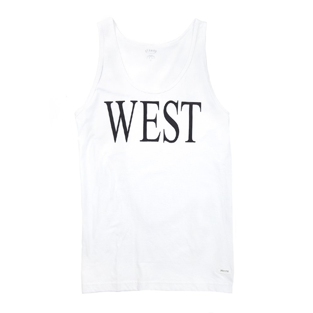 STAMPD Men's West Tank SLA-SS13-23 White SZ XL
