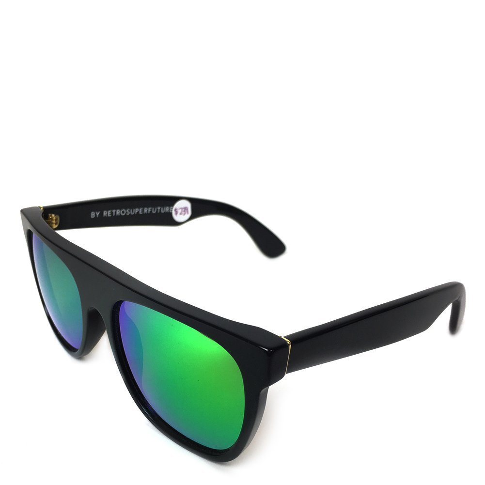 Super Unisex Flat Top Cove Black Sunglasses WV4 Black One Size