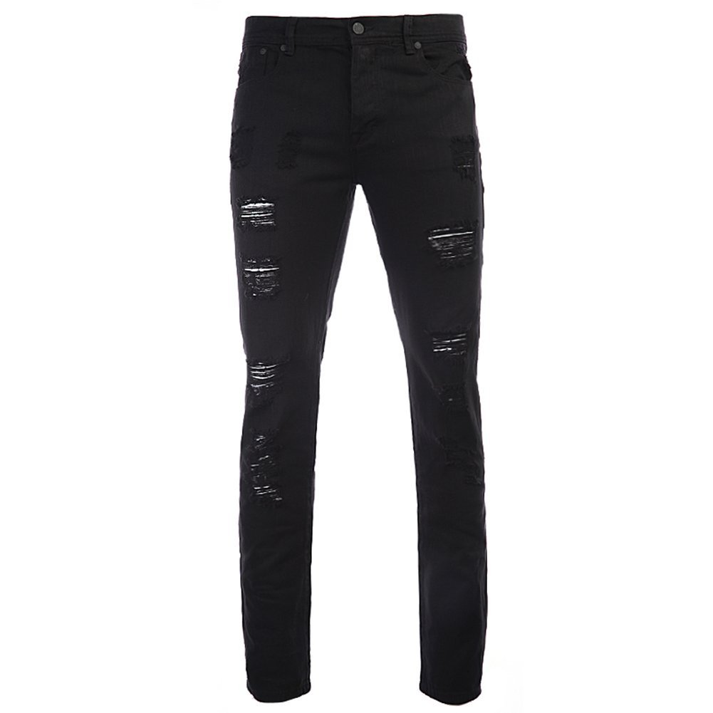 STAMPD Men's Distressed Essential Denim SLA-M724DE Black SZ 30