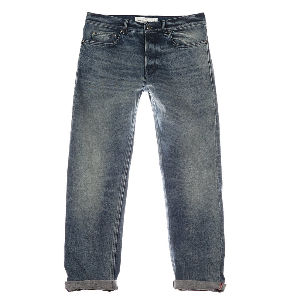 Golden Goose Deluxe Brand Men's Old Heart Denim Pant G28MP504.A3 Middle Blue ...