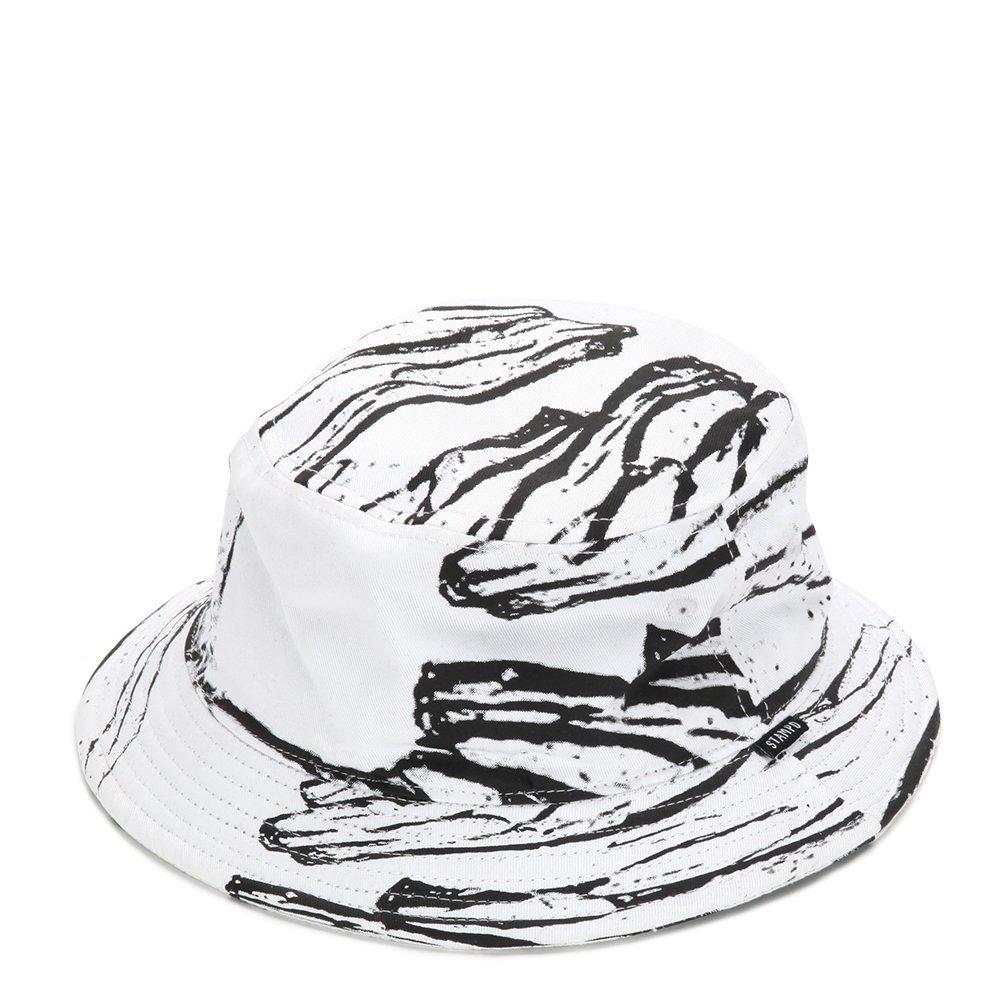 STAMPD Glass Printed Bucket Hat SLA-U429 White One Size