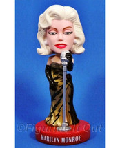 Marilyn Monroe Singer Bobble Gold Dress Funko Wacky Wobbler Bobblehead - $64.99