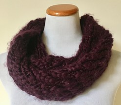 NWT VERA Blackberry Cordial Infinity Loop Knit Scarf One Size $38 - €9,18 EUR