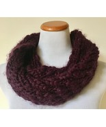 NWT VERA Blackberry Cordial Infinity Loop Knit Scarf One Size $38 - $9.99