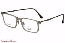 Ray Ban Eyeglasses RB7050 5482 Matte Gray Rectangle Frame 54mm Authentic Italy - $77.59
