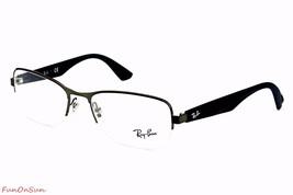 Ray Ban Eyeglasses RB6309 2620 Gunmetal Blue Semi Rimless Frame 55mm Authentic - $96.99