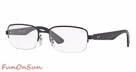 Ray Ban Eyeglasses RB6311 2503 Blackmetal Semi Rimless Frame 55mm Authentic - $77.59